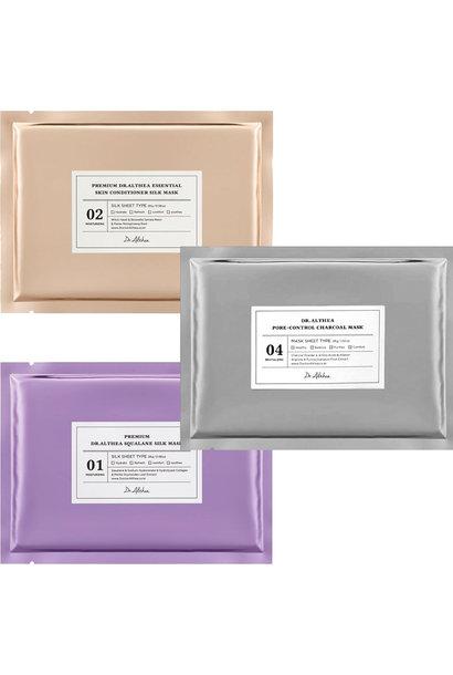 Premium Silk Tuchmasken Probierset (3 Stk)