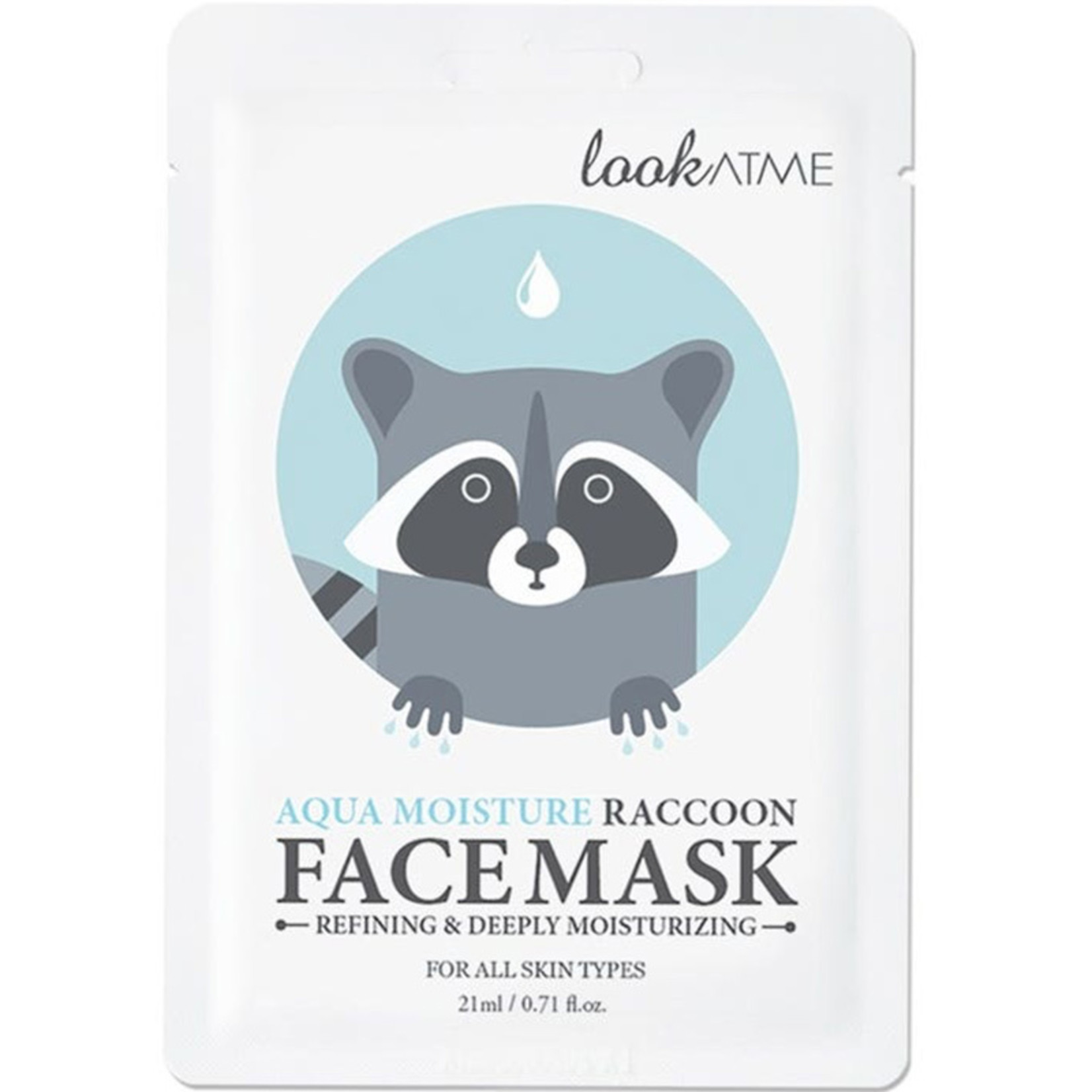 lookATME Aqua Moisture Raccoon Face Mask