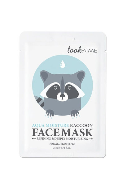 Aqua Moisture Raccoon Face Mask