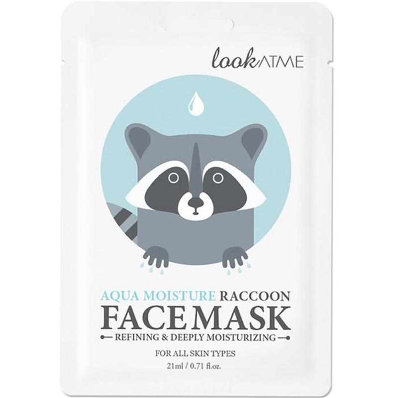 Aqua Moisture Raccoon Face Mask-1