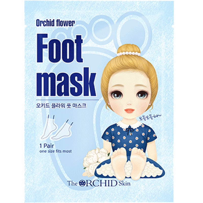 Orchid Flower Foot Mask-1