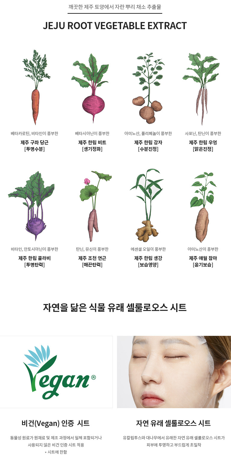 Jeju Root Energy Tuchmaske [Rübe]-3