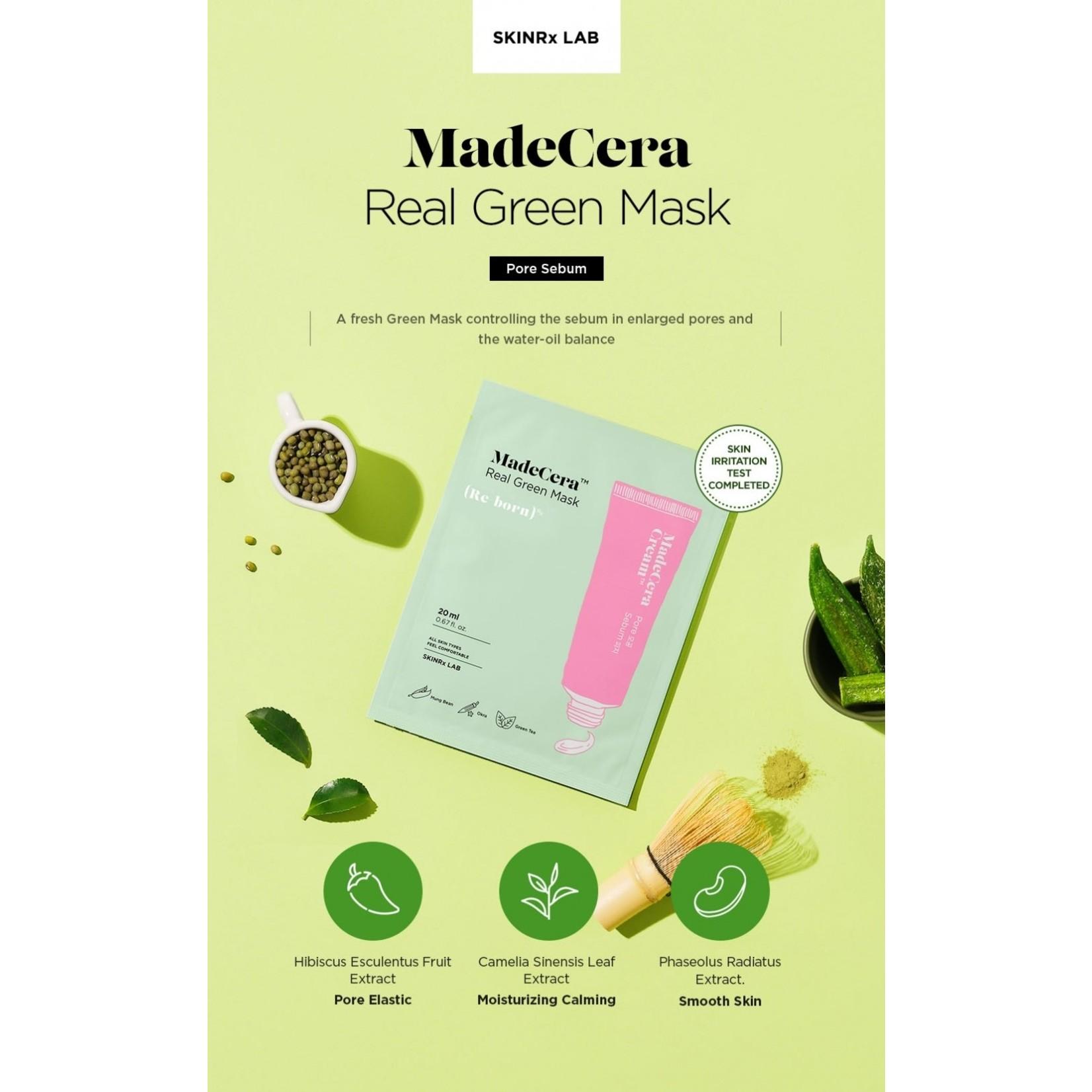SKINRx LAB MadeCera Real Green Mask