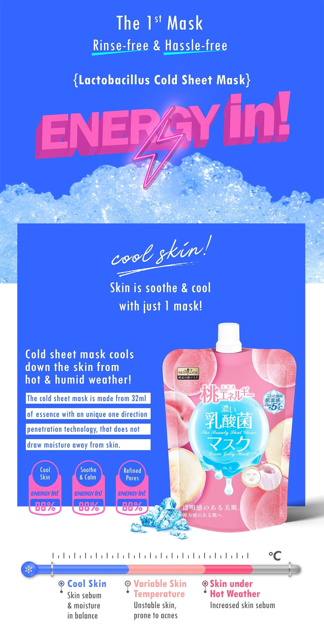 Pure Peach Cooling Cool Jelly Mask-3