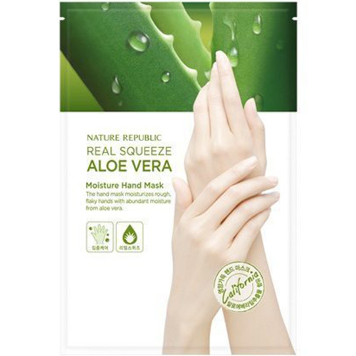 Real Squeeze Aloe Vera Feuchtigkeits-Handmaske-1