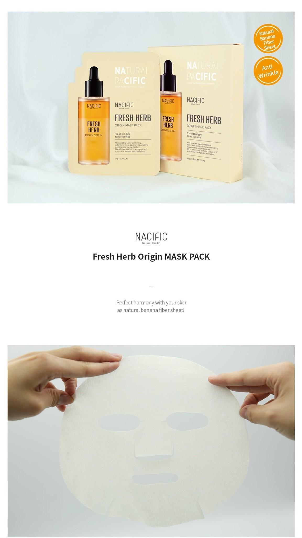 Fresh Herb Origin Kit (Tuchmaske + Toner 30ml)-2