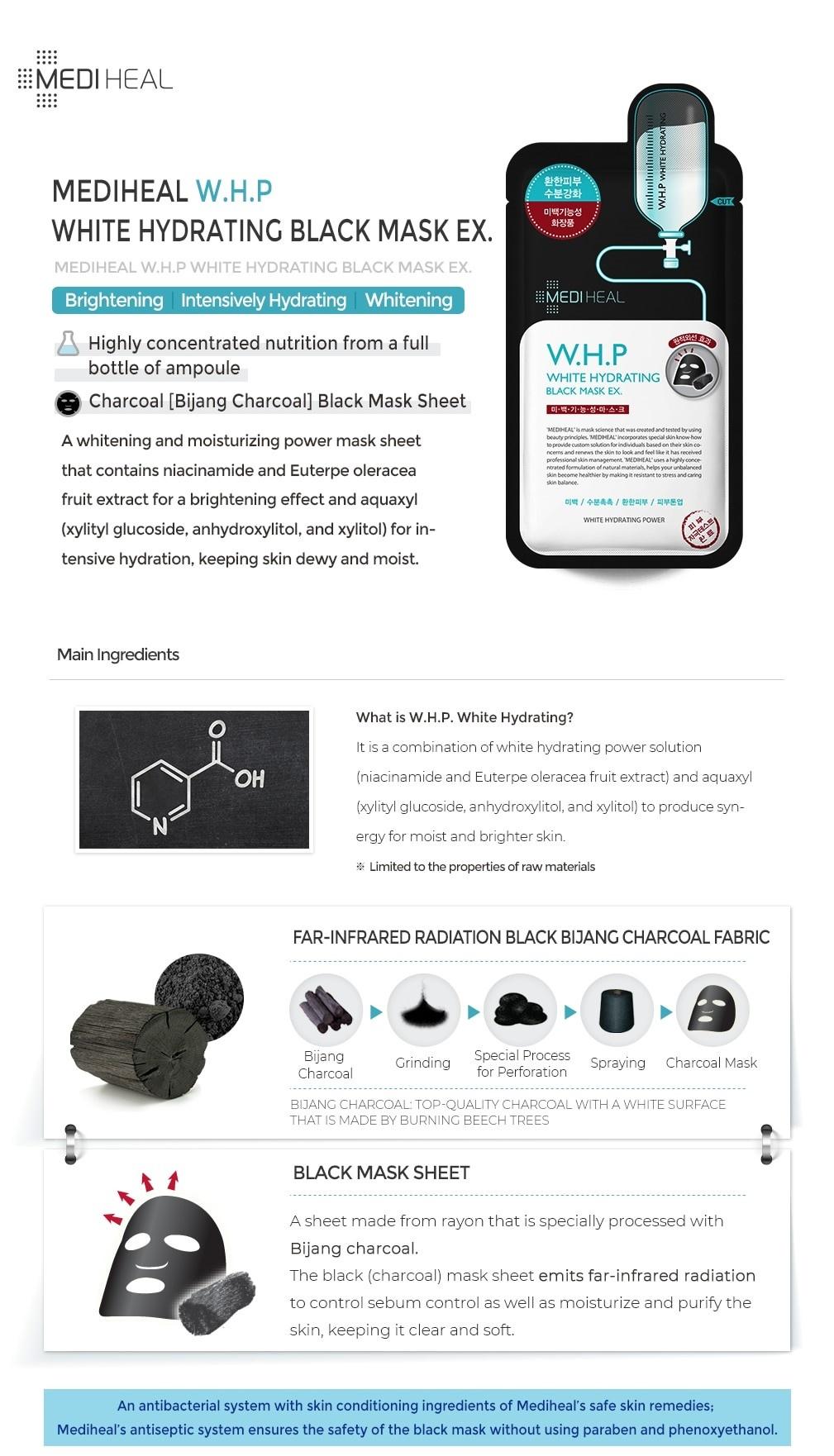 W.H.P White Hydrating Black Mask EX.-2