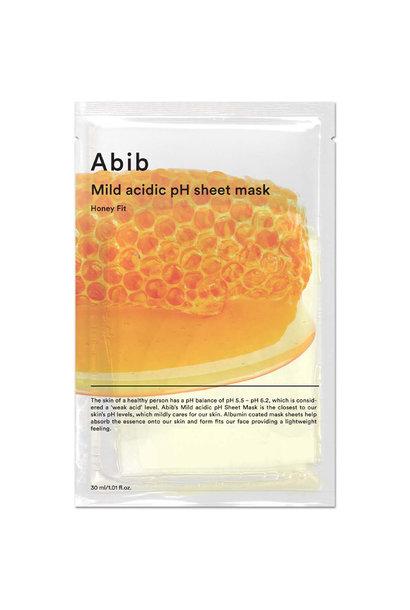 Mild Acidic pH Sheet Mask Honey Fit