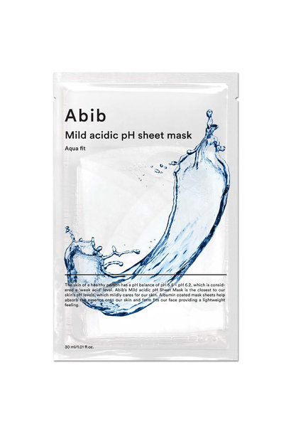 Mild Acidic pH Sheet Mask Aqua Fit