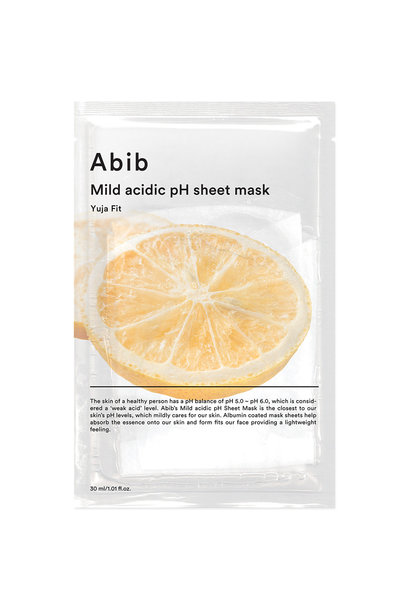 Mild Acidic pH Sheet Mask Yuja Fit