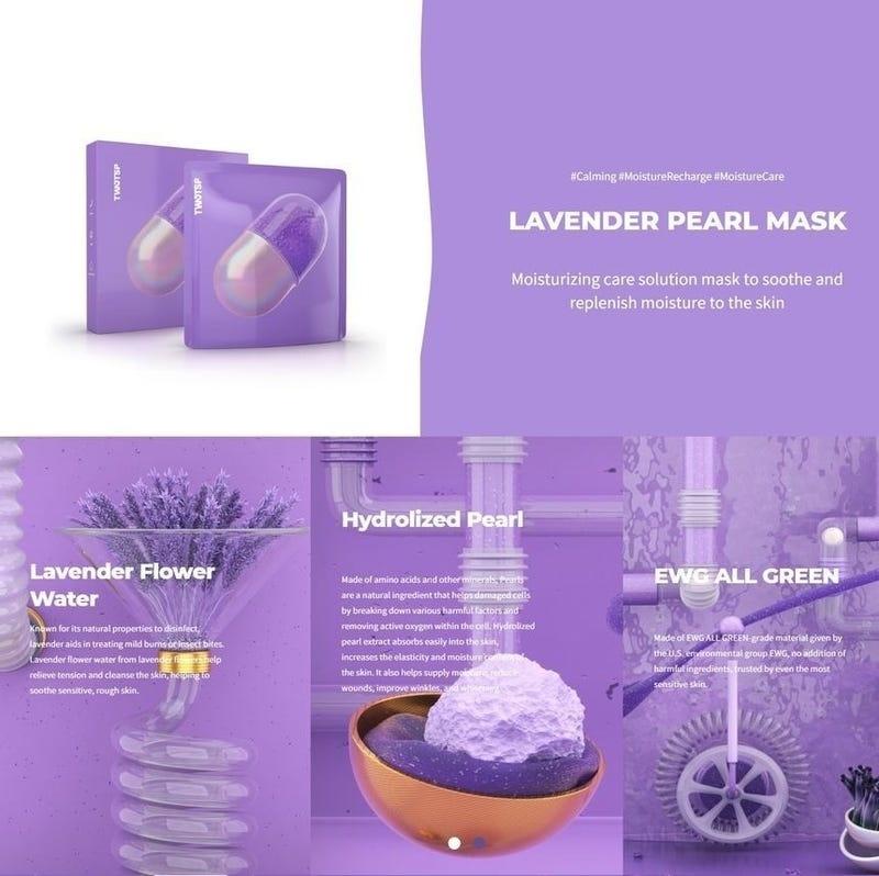Lavender Pearl Mask-2