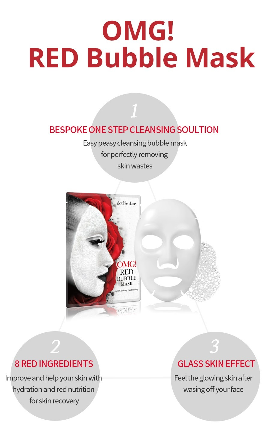 OMG! Red Bubble Mask-4