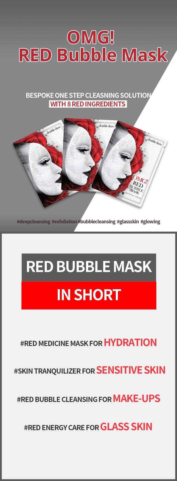 OMG! Red Mask Set (2 pcs)-2