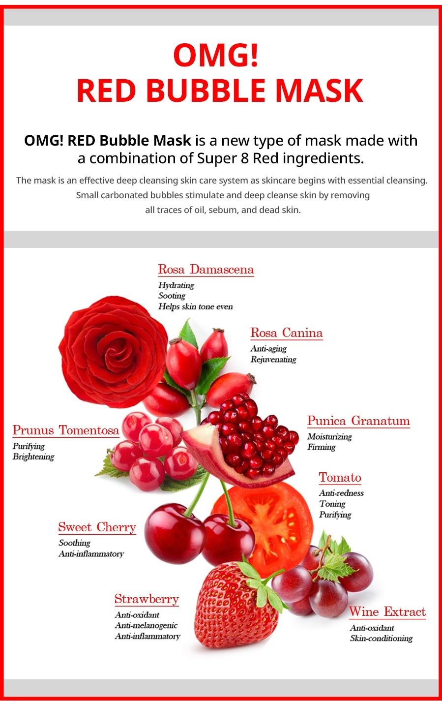 OMG! Red Mask Set (2 pcs)-3