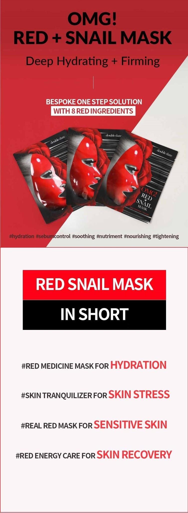 OMG! Red Mask Set (2 pcs)-5