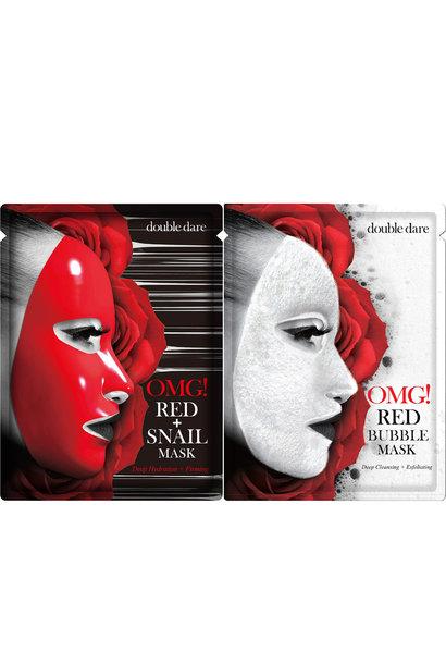 OMG! Red Mask Set (2 pcs)