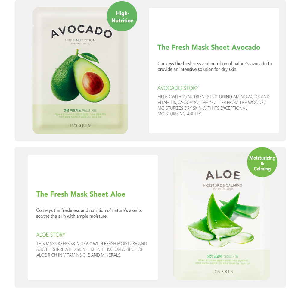The Fresh Mask Sheet - Avocado-5