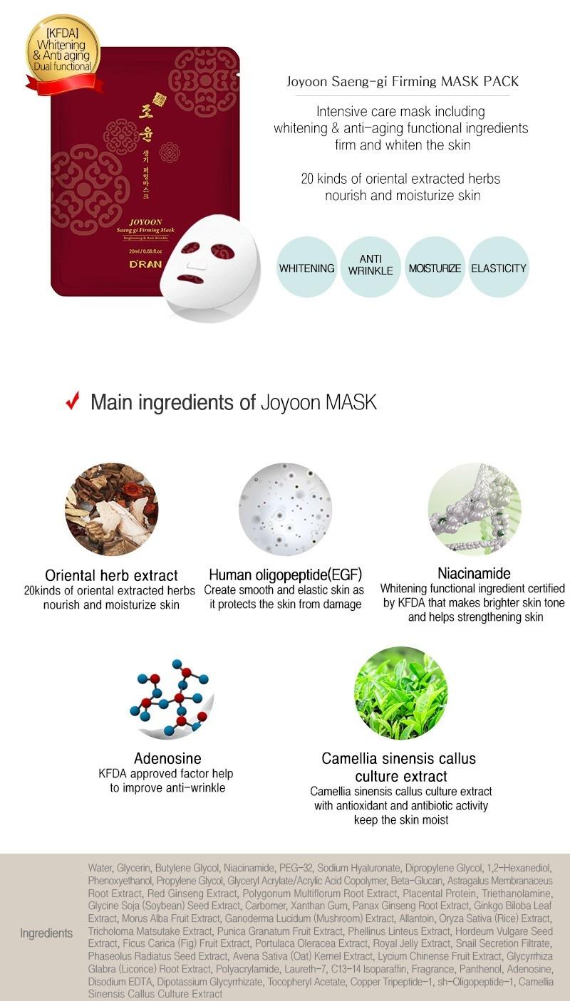 Joyoon Saeng Gi Firming Mask-3