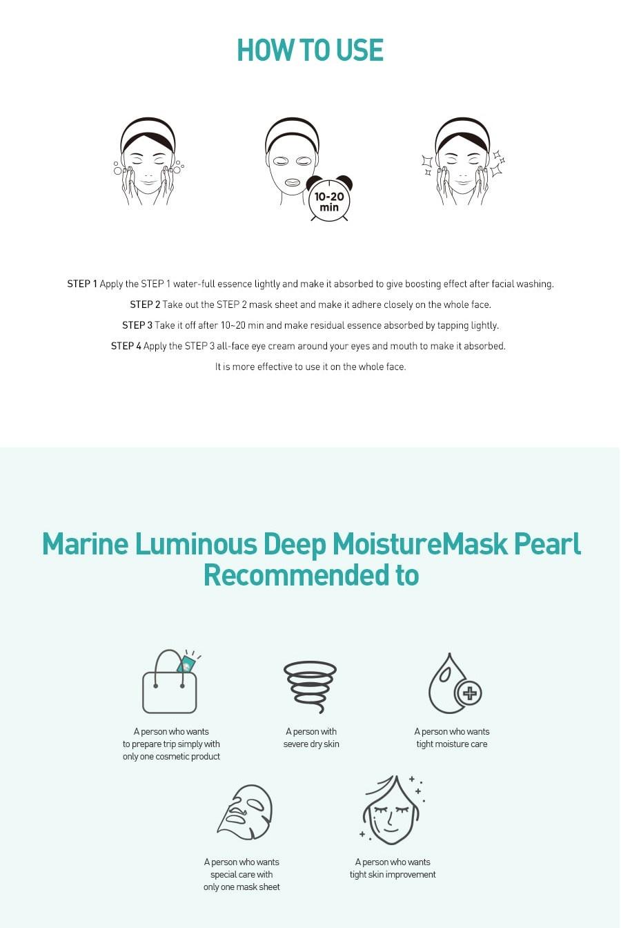 Marine Luminous Pearl Deep Moisture Mask-7