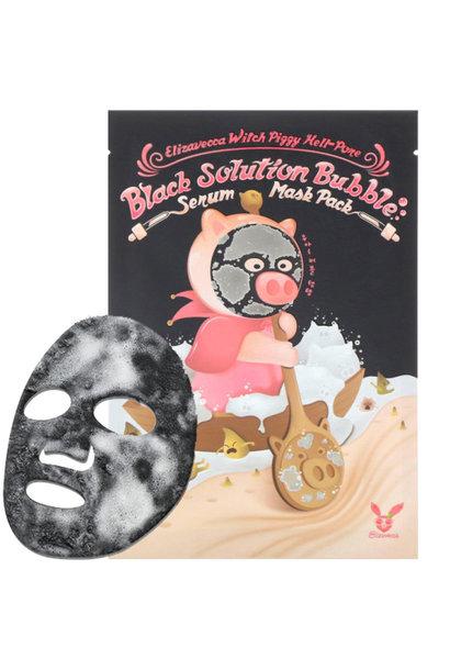 Witch Piggy Black Solution Bubble Mask