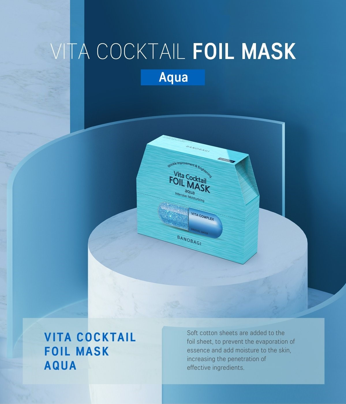 Vita Cocktail Foil Mask Aqua-2
