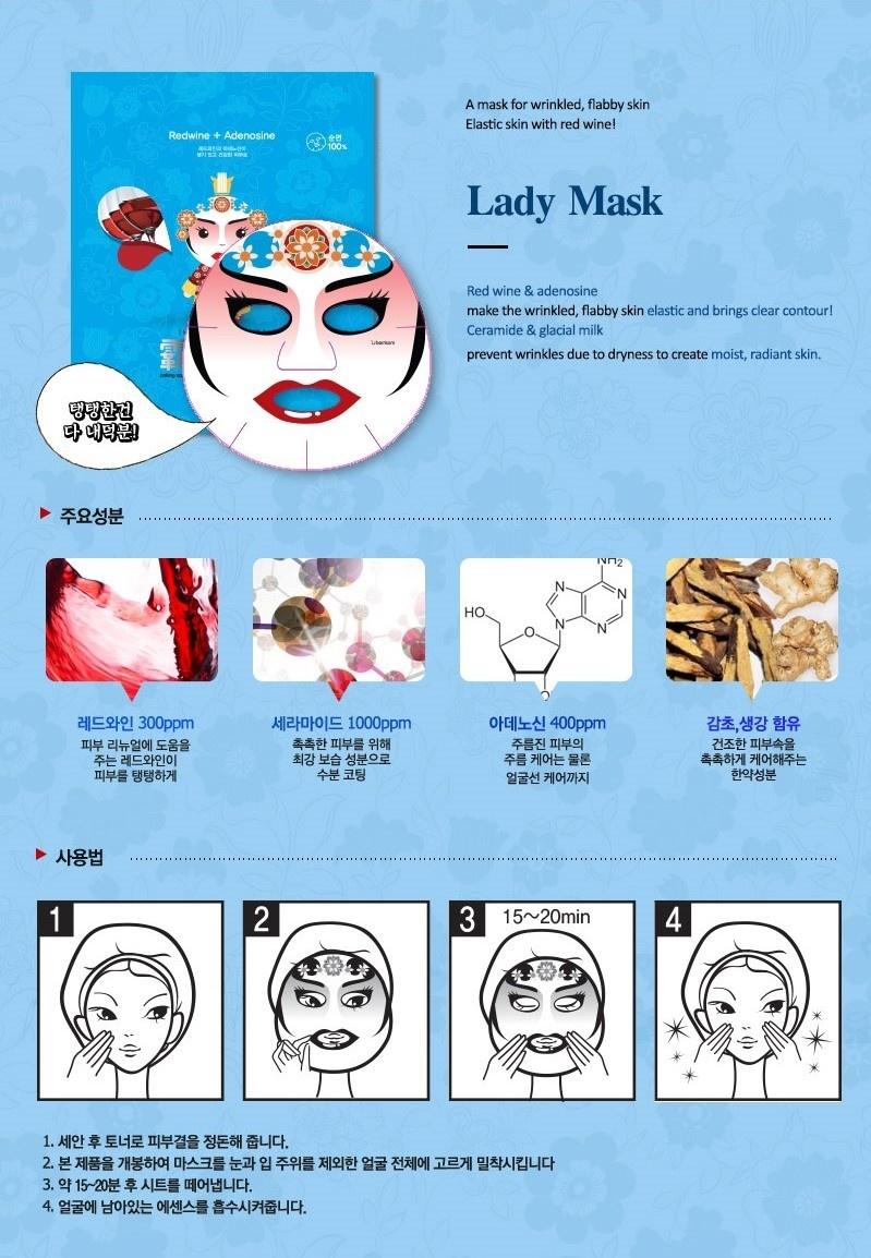 Peking Opera Tuchmaske Set King & Queen (2 Stk)-5