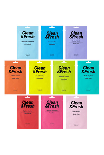 Clean & Fresh Sheet Mask Mix (10 pcs)
