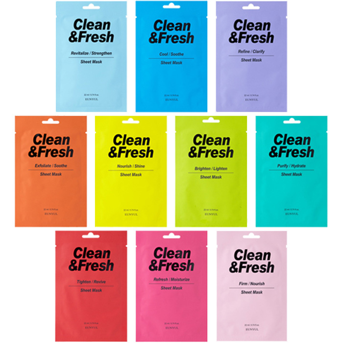 Clean & Fresh Tuchmaske Mix Pack (10 Stk)-1