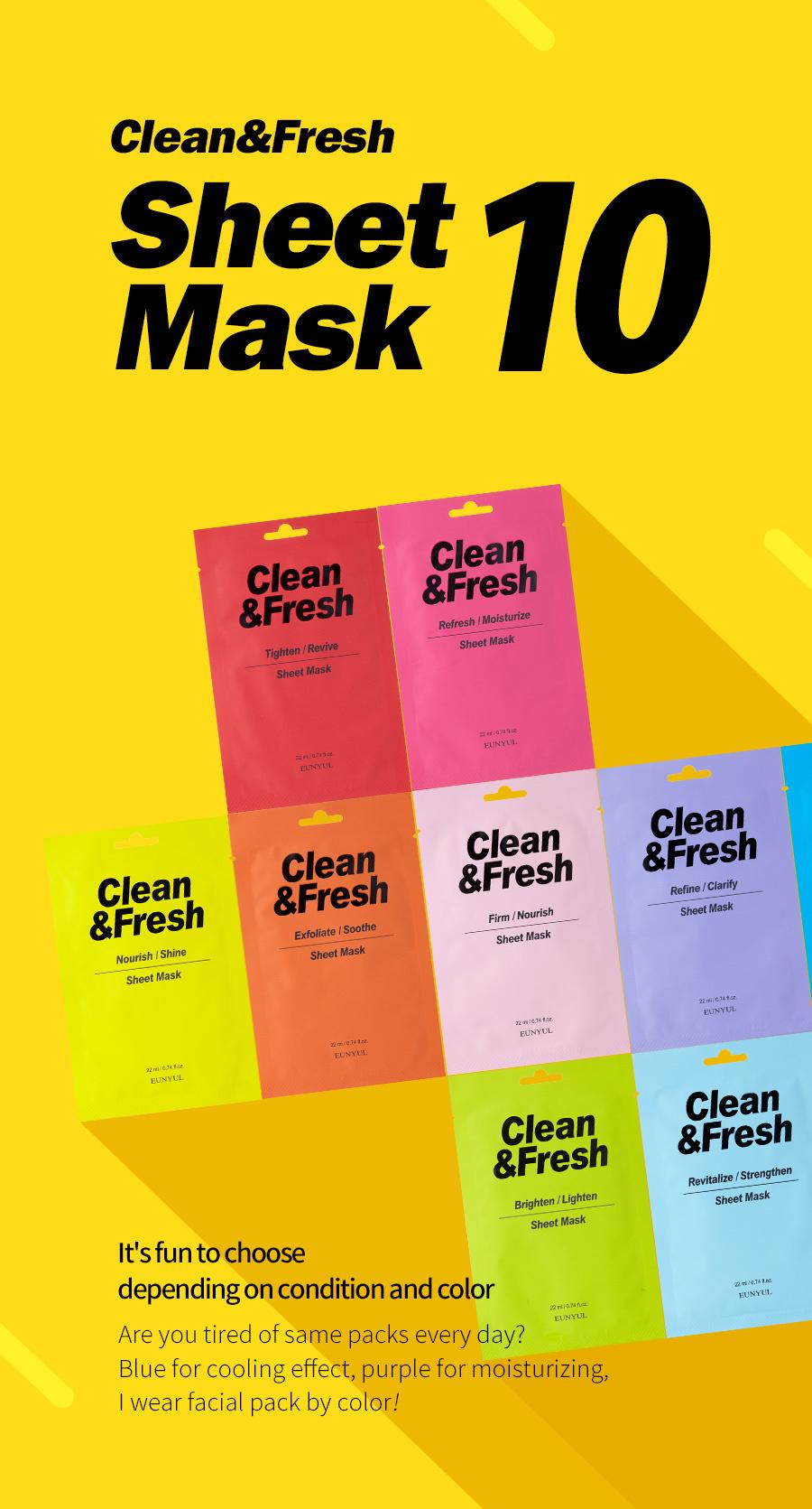 Clean & Fresh Tuchmaske Mix Pack (10 Stk)-2