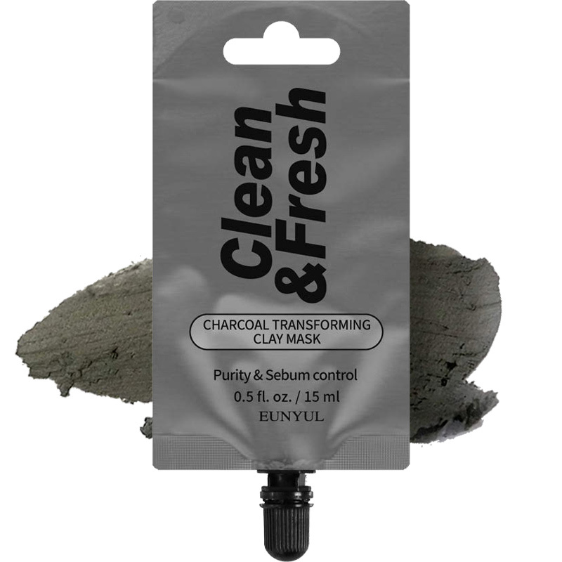 Clean & Fresh Clay Mask Pouch Pack - Charcoal Transforming-1