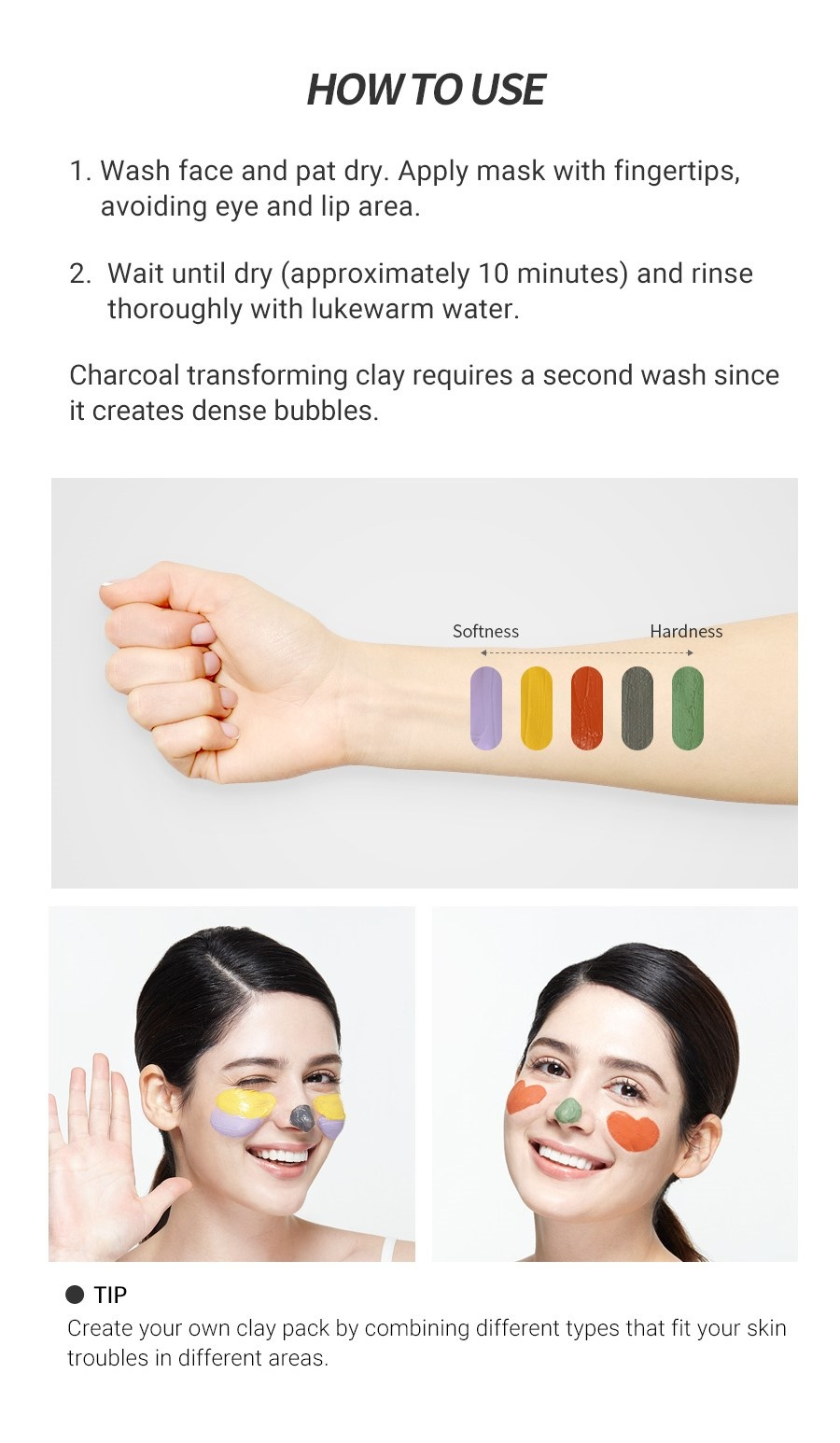 Clean & Fresh Clay Mask Pouch Pack - Charcoal Transforming-6