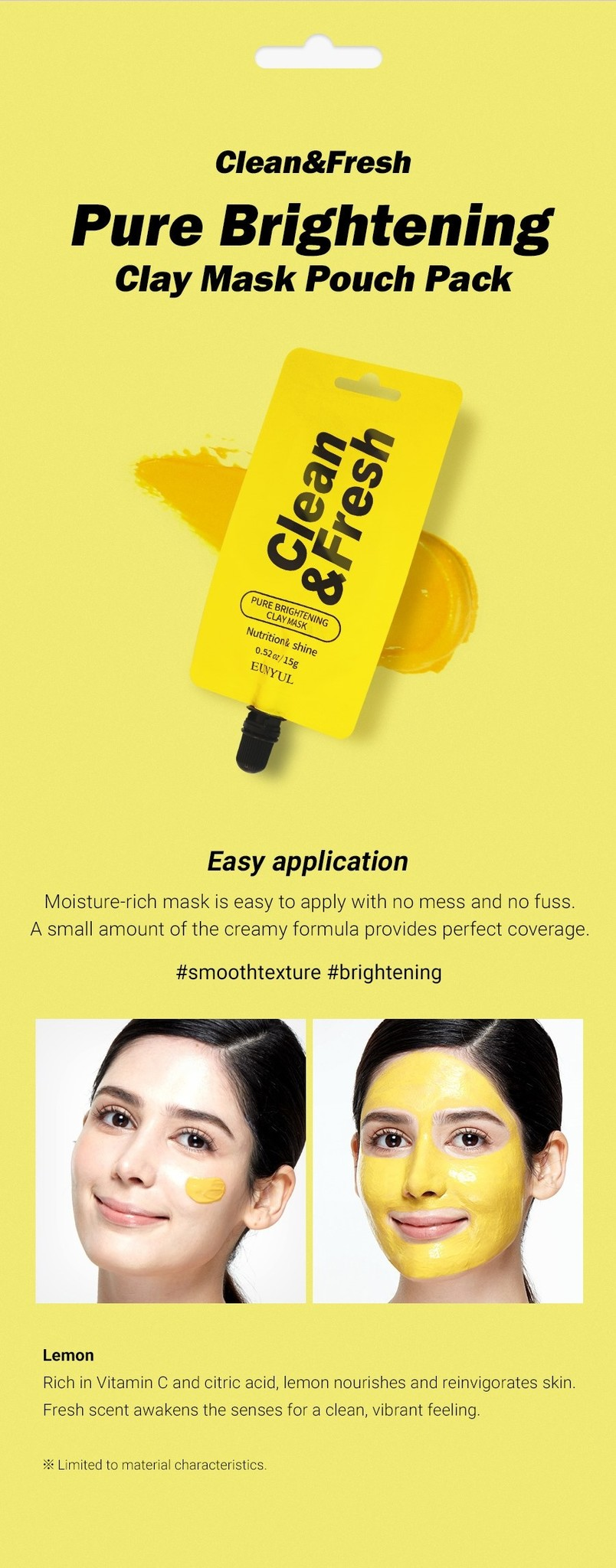 Clean & Fresh Clay Mask Pouch Pack - Pure Brightening-4