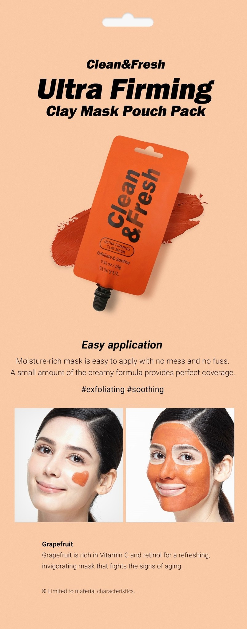 Clean & Fresh Clay Mask Pouch Pack - Ultra Firming-4