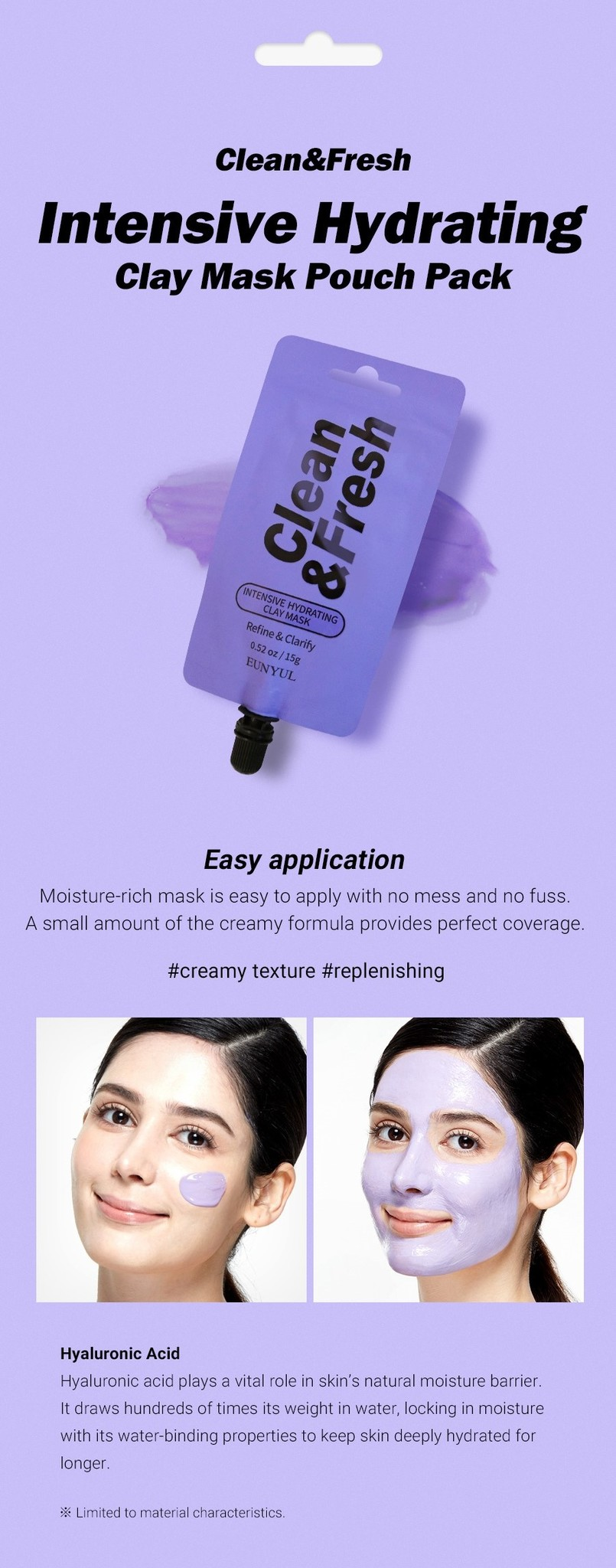 Clean & Fresh Clay Mask Pouch Pack - Intense Hydrating-4