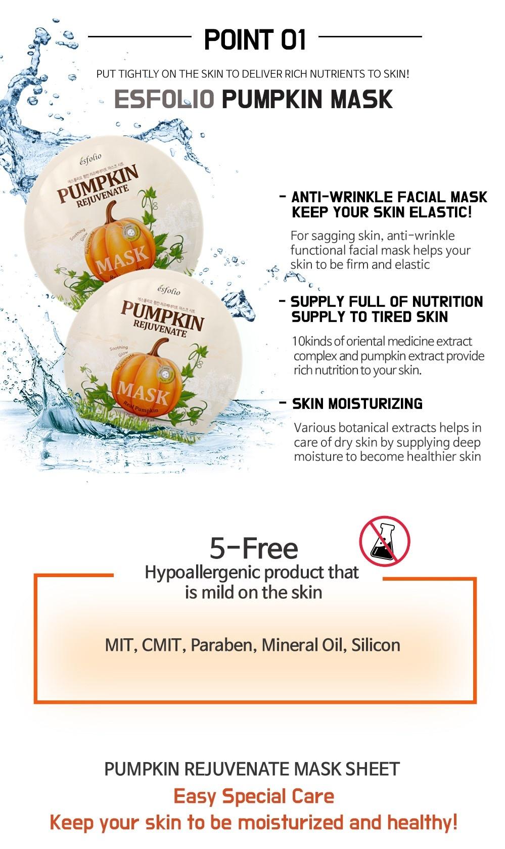Pumpkin Rejuvenate Sheet Mask-3