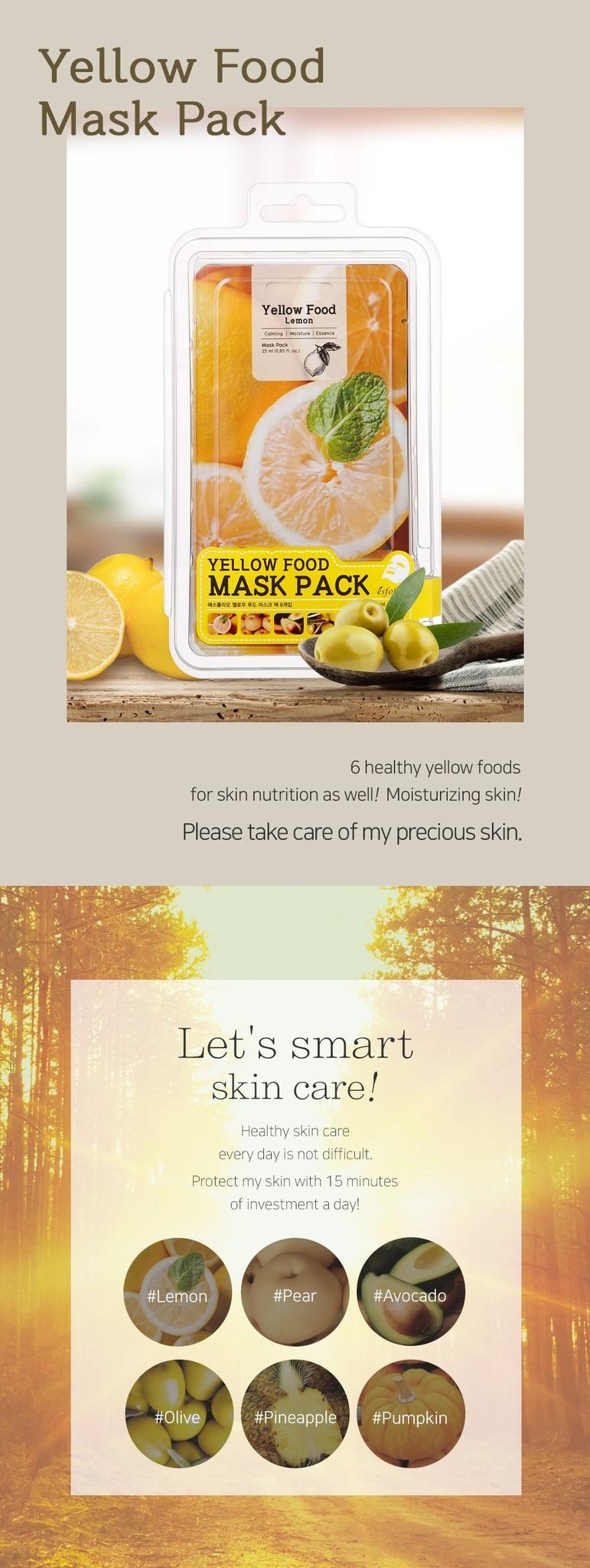 Yellow Food Lemon Mask-2