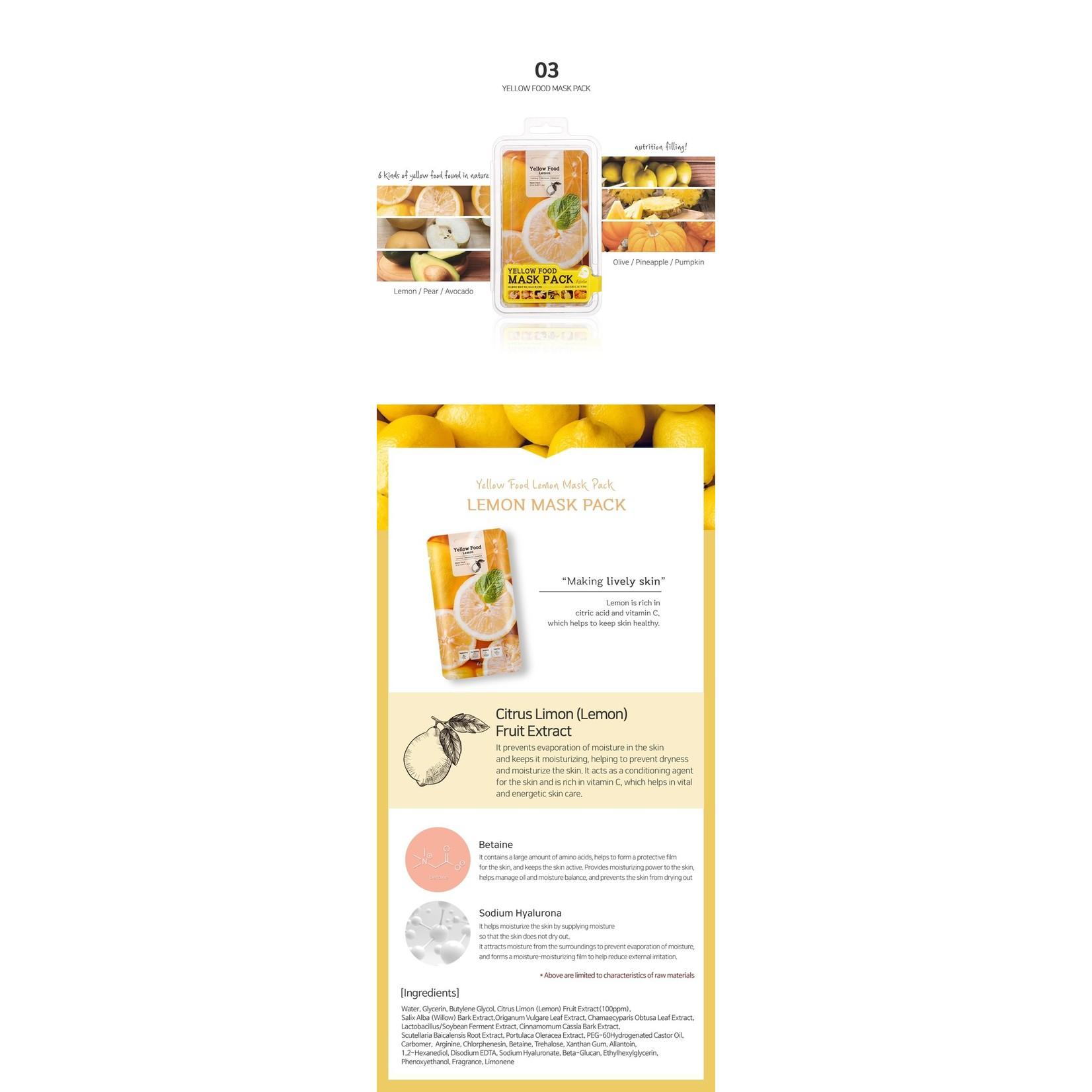 esfolio Yellow Food Lemon Mask