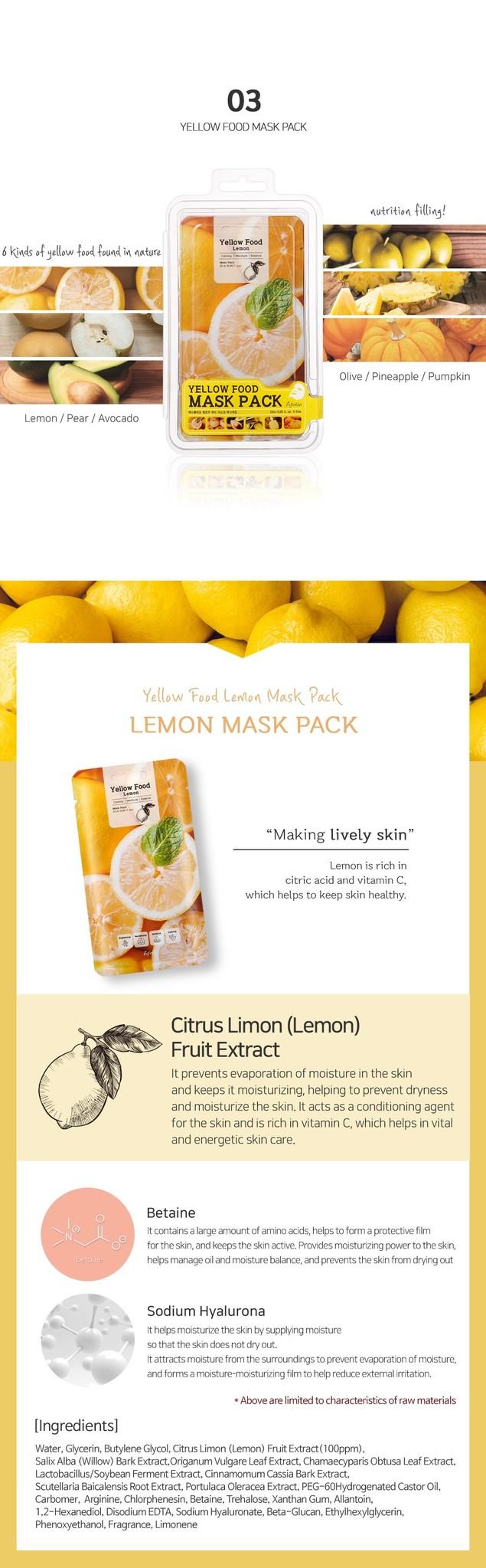 Yellow Food Lemon Mask-4