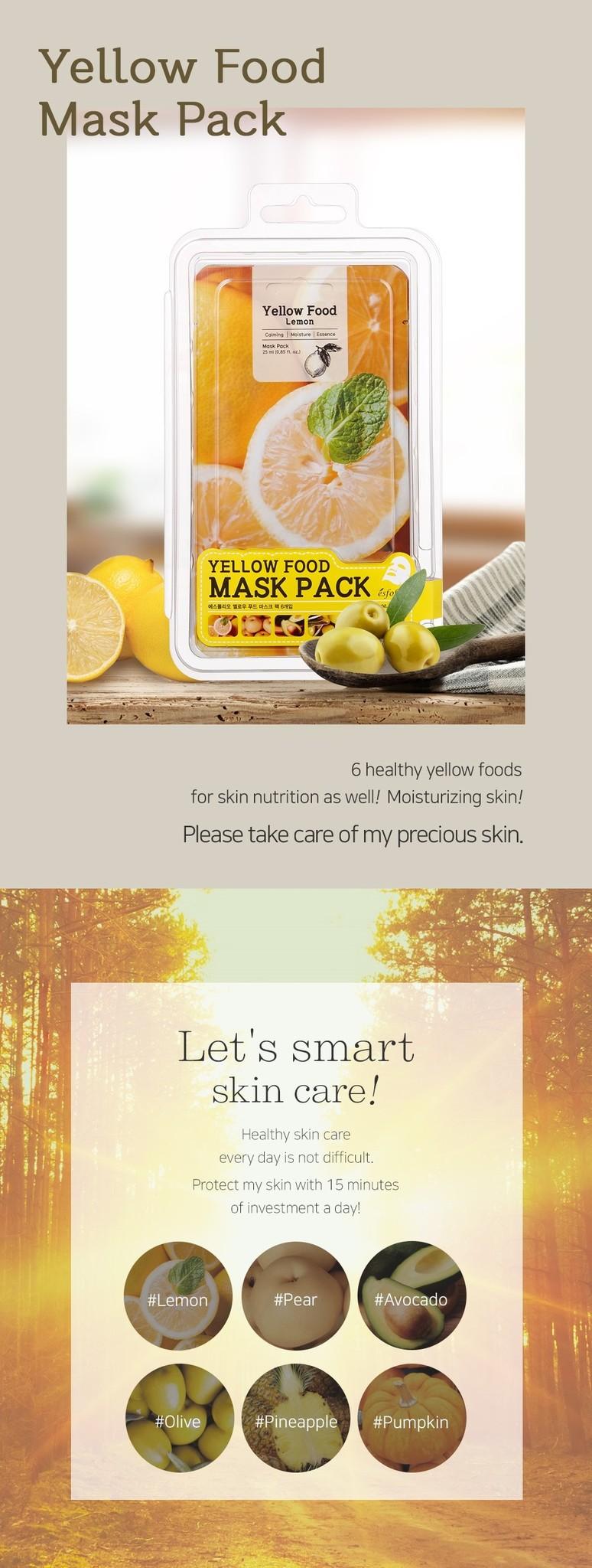 Yellow Food Pear Mask-2
