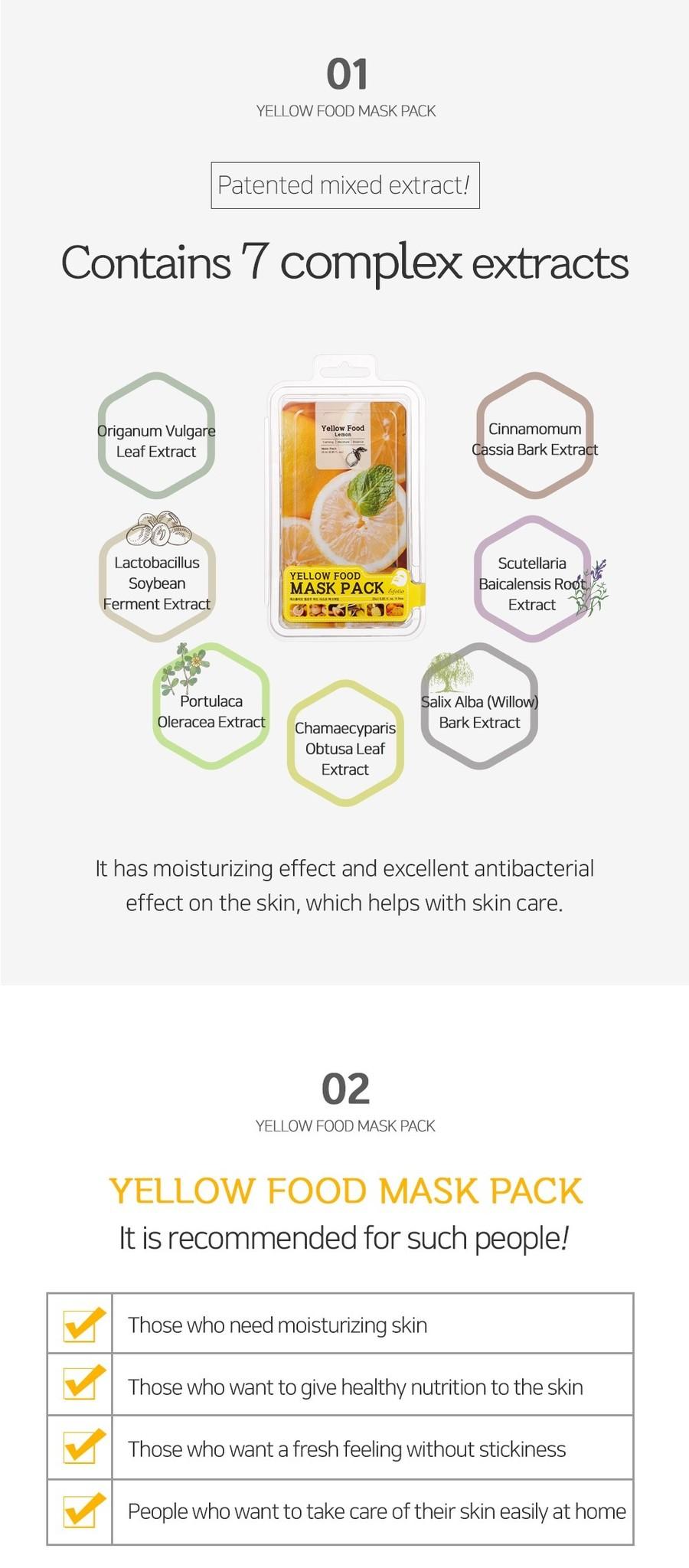Yellow Food Pear Mask-3