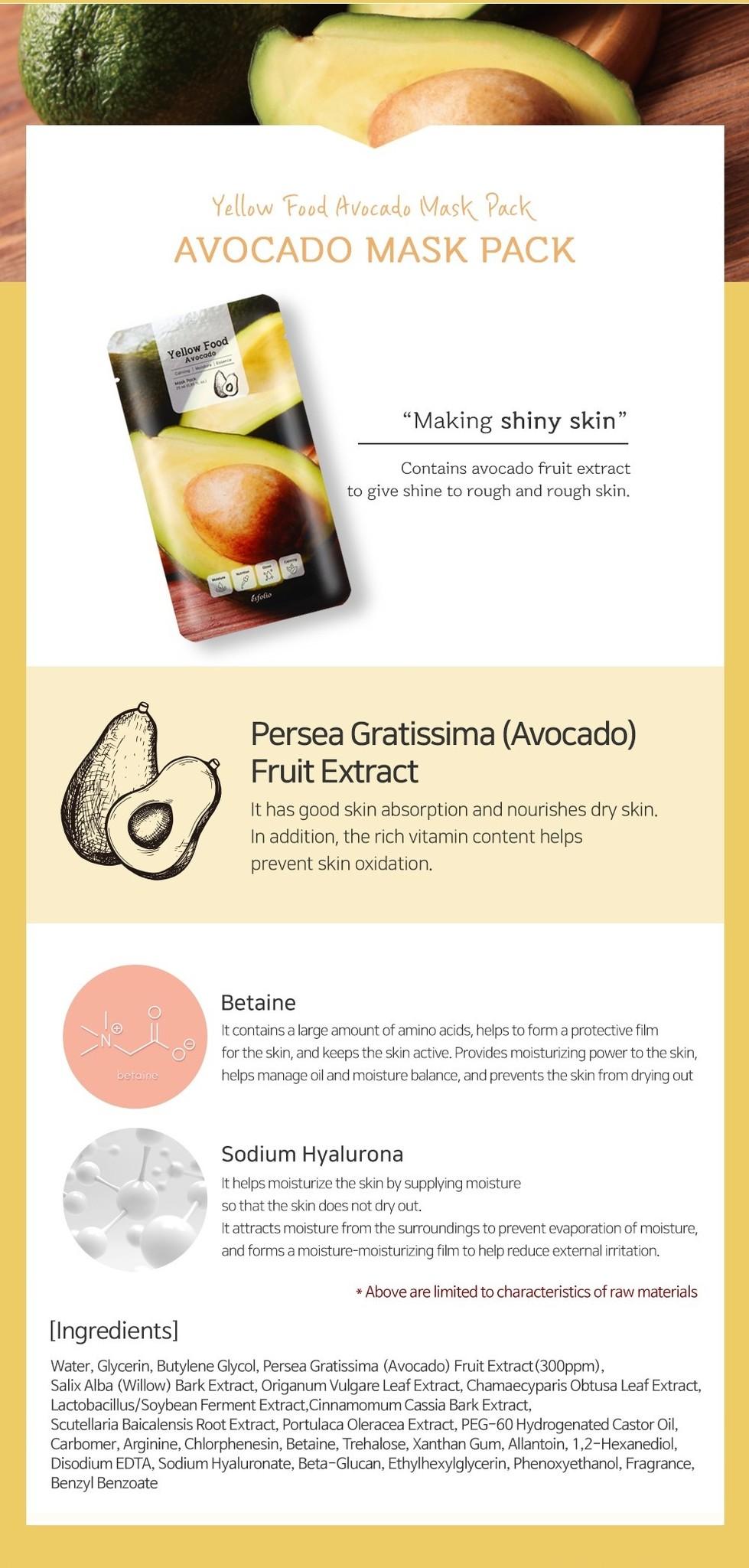 Yellow Food Avocado Mask-5