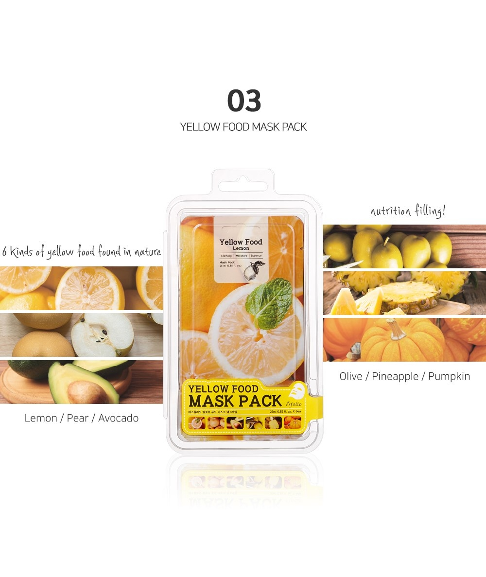 Yellow Food Pear Mask-4