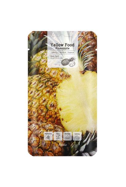 Yellow Food Pineapple Mask