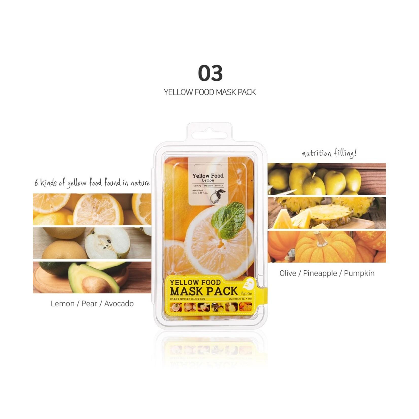 esfolio Yellow Food Pumpkin Mask