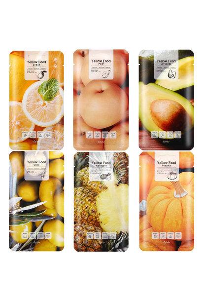 Yellow Food Mask Pack (6 pcs)
