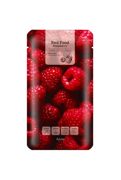 Red Food Rasberry Mask