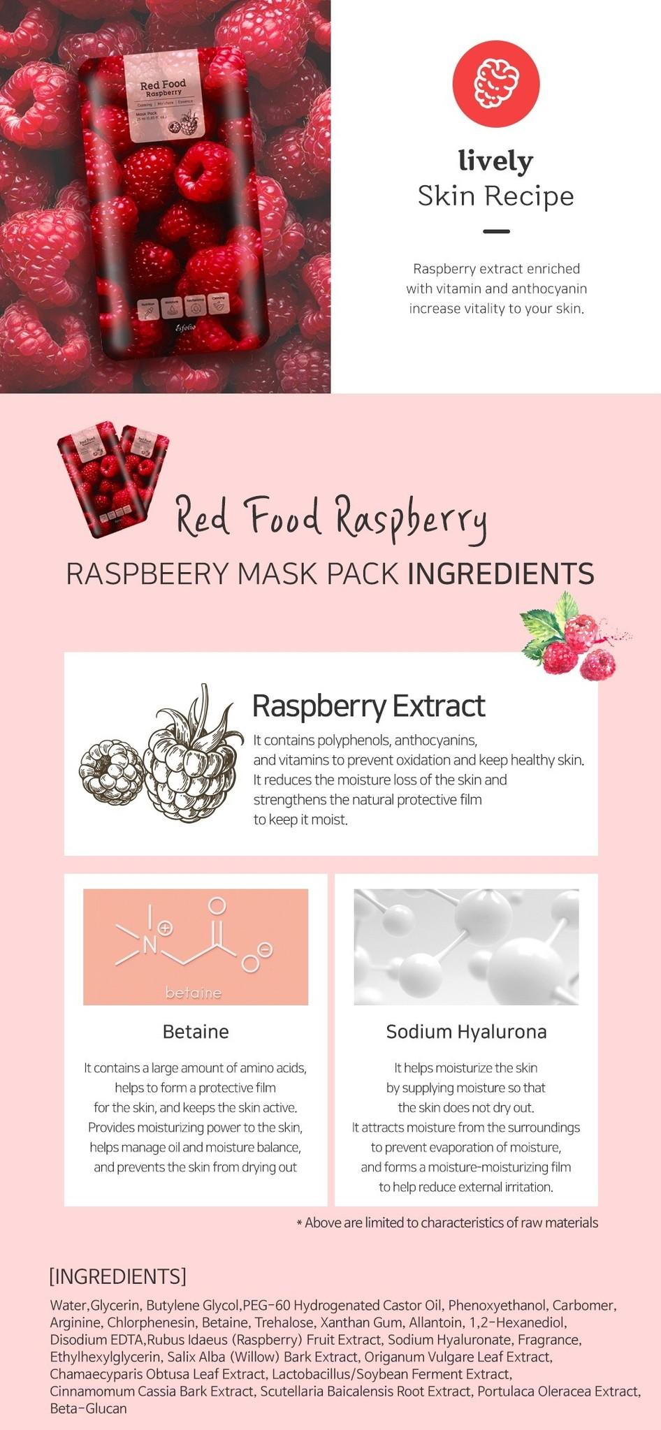 Red Food Rasberry Mask-4