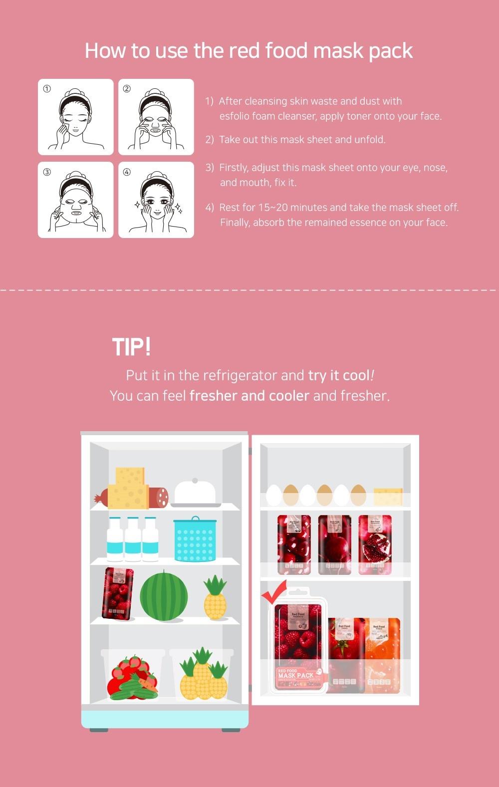 Red Food Rasberry Mask-6