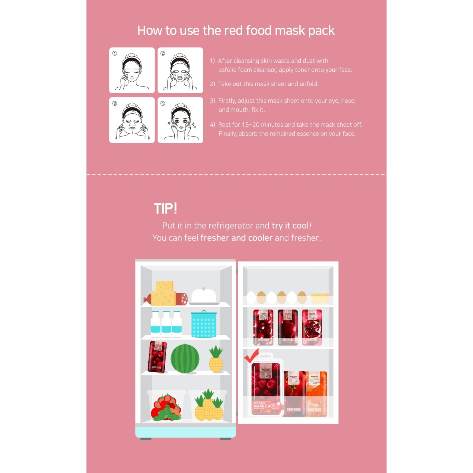 esfolio Red  Food  Pomegranate  Mask