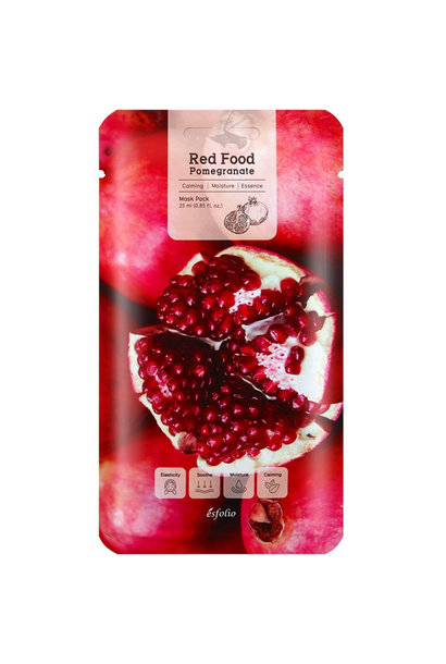 Red  Food  Pomegranate  Mask